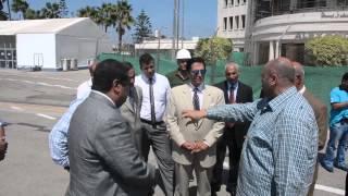 شاهد.. محافظ الإسكندرية يتفقد أعمال تطوير مطار النزهة