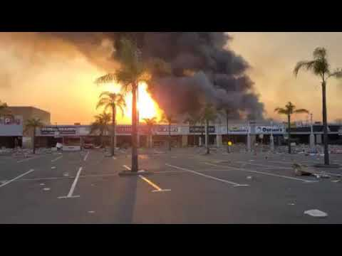 South Africa Unrest: Springfield Park Mall on Fire