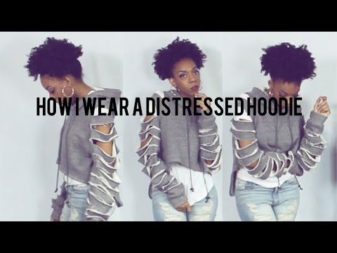 3 Ripped/ Distressed  Hoodie Outfits Lookbook