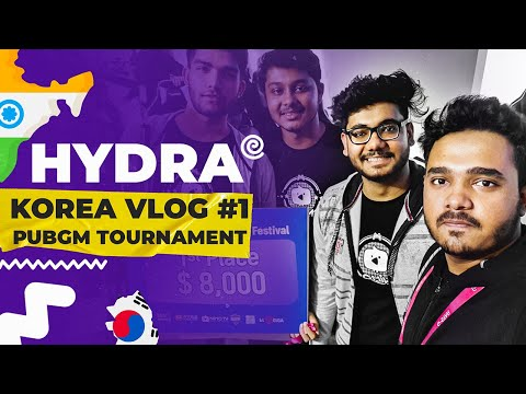[VLOG #1] H¥DRA CLAN IN SOUTH KOREA 🤯| 1st PLACE  IN ASIAN INFLUENCER FESTIVAL PUBG MOBILE! 🤩