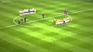 PSV - NAC Breda, Minuut stilte voor Jan van Beveren (10-12-2011)