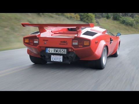 You'll Never Forget the Sound of a Lamborghini Countach
