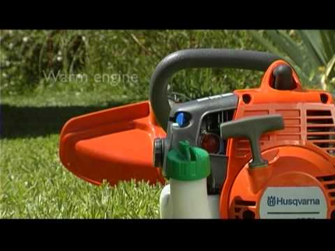 How To Use A Husqvarna Brushcutter Youtube