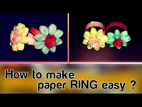 How to make an Easy Paper Ring || Origami Ring || Tutorial || Step by Step Instructions,,