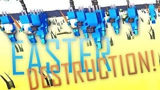 EASTER BUNNY DESTRUCTION! - Ancient Warfare 2 Easter Update!