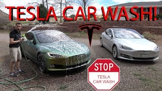 Tesla Car Wash!