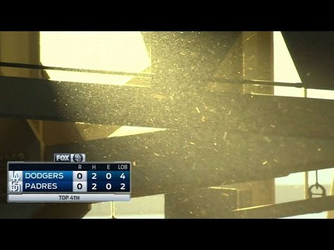 LAD@SD: Bees take in ballgame at Petco Park