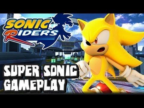 Sonic Riders - (1080p) Super Sonic Gameplay