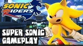 Sonic Riders - (1080p) Super Sonic Gameplay