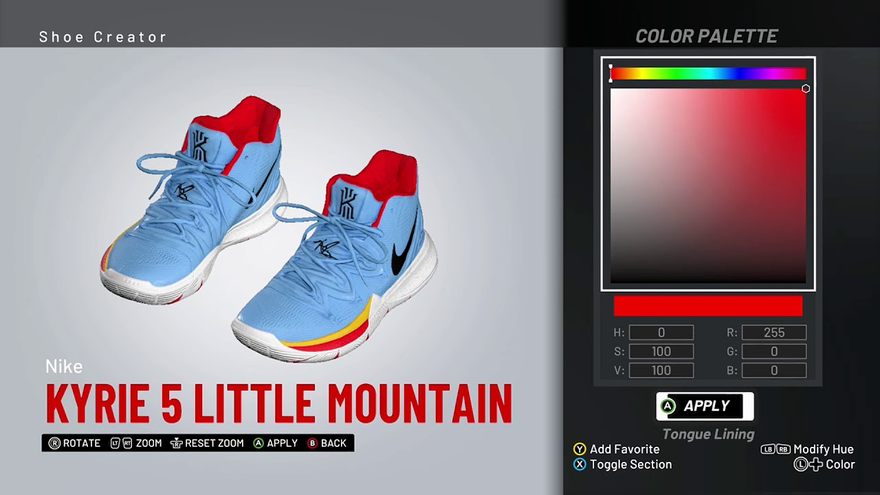 NBA 2K19 Shoe Creator - Nike Kyrie 5