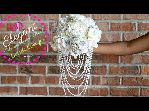 diy-elegant-brooch-and-pearl-cascade-bridal-bouquet-|-diy-wedding-bouquet-|-diy-tutorial
