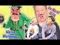 Hello Neighbor in Real Life Leprechaun Trap SKIT | DavidsTV