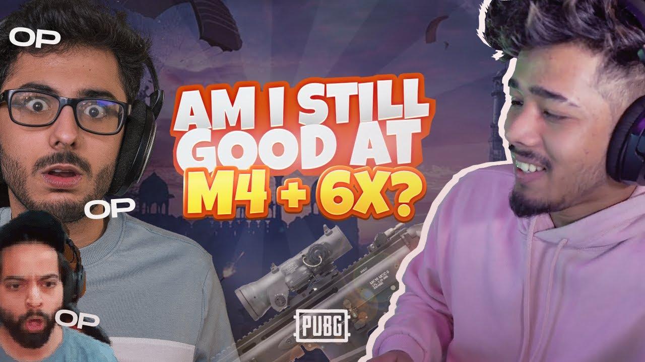 Am I Still Good At M4+6X? | PUBG Ft. CarryMinati *SHOCKED REACTIONS* | sc0ut