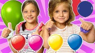 Ева решила повторить Челлендж от Family Box - Челлендж шарик слайм 👍🎈🎈🎈