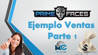 JSF + Primefaces Ejemplo Ventas MySQL + JDBC