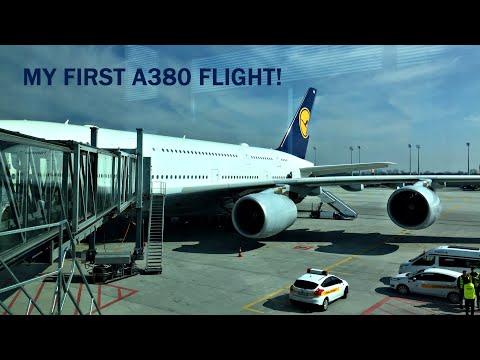 TRIP REPORT | Lufthansa A320 OSL-MUC + INAUGURAL A380 flight MUC-LAX | Economy | LH2457 & LH452