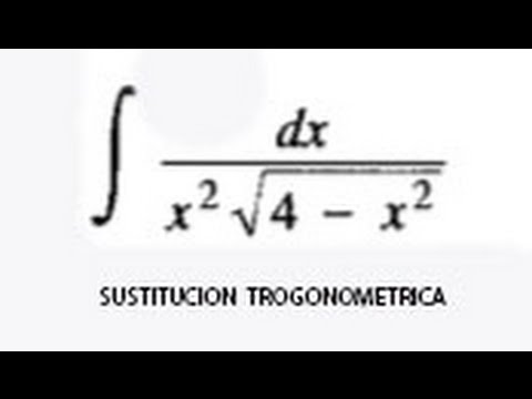 Integracion por sustitucion trigonometrica (Leithold 7 3 ej  1)