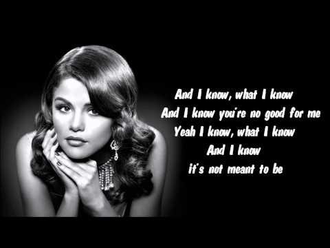 Selena Gomez - My Dilemma Karaoke / Instrumental with lyrics on screen