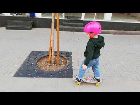 Первый день тренировки, удался. Варна. Болгария. Учимся на скейте 2019 Пешиходка.