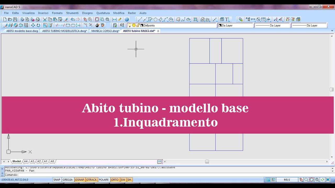 Top 1.ABITO TUBINO MODELLO BASE- INQUADRAMENTO - YouTube LT34