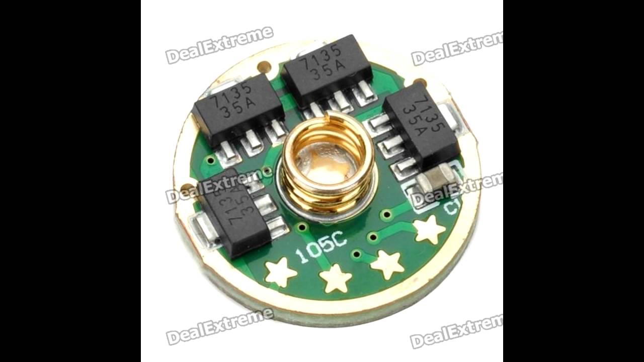 Led Flashlight Driver Circuit 1 Youtube 1w