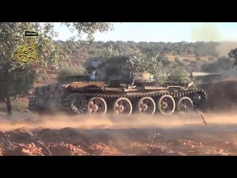 Syrian News-Rebel tank operates on the syrian coutryside New HD 720p
