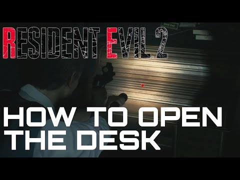 Resident Evil 2 Remake HOW TO UNLOCK THE DESK (West Office Desk Puzzle)