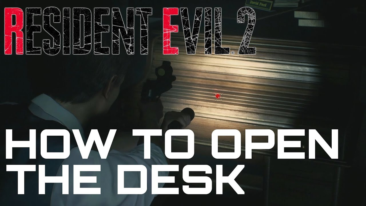 Resident Evil 2 Remake How To Unlock The Desk West Office Desk Puzzle Youtube