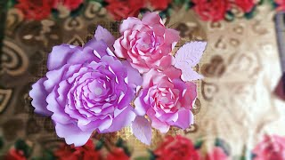 Paper Rose Flower Decoration for any occasion at home, Paper Flower Backdrop diy,paper flowers