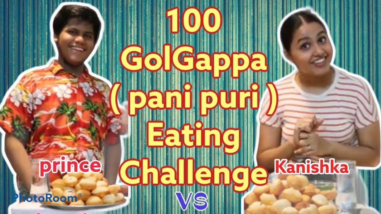 100 Golgappa (Pani puri) Eating challenge | birthday special treat | #golgappaeating #Anchorkanishka