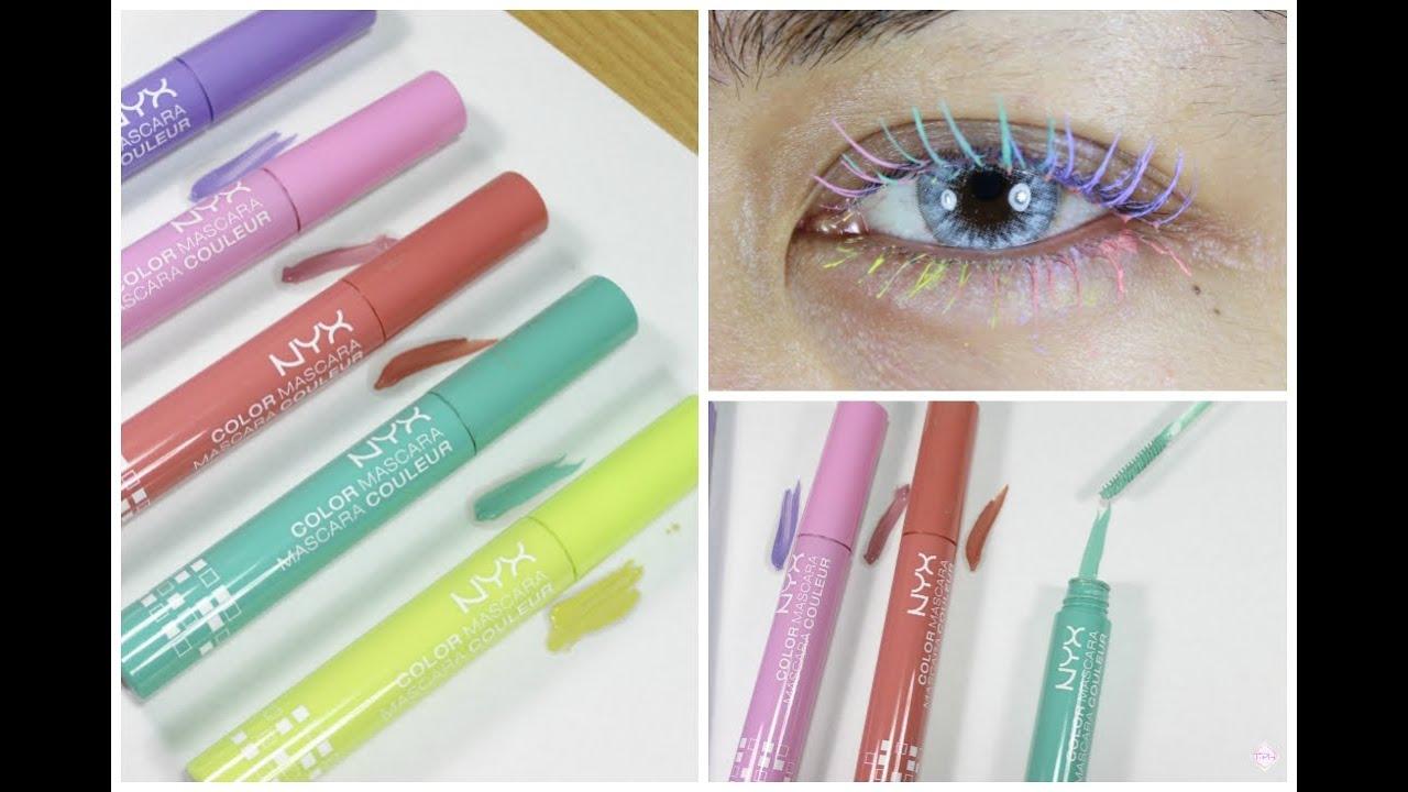 nyx color mascara thepopheir swatch
