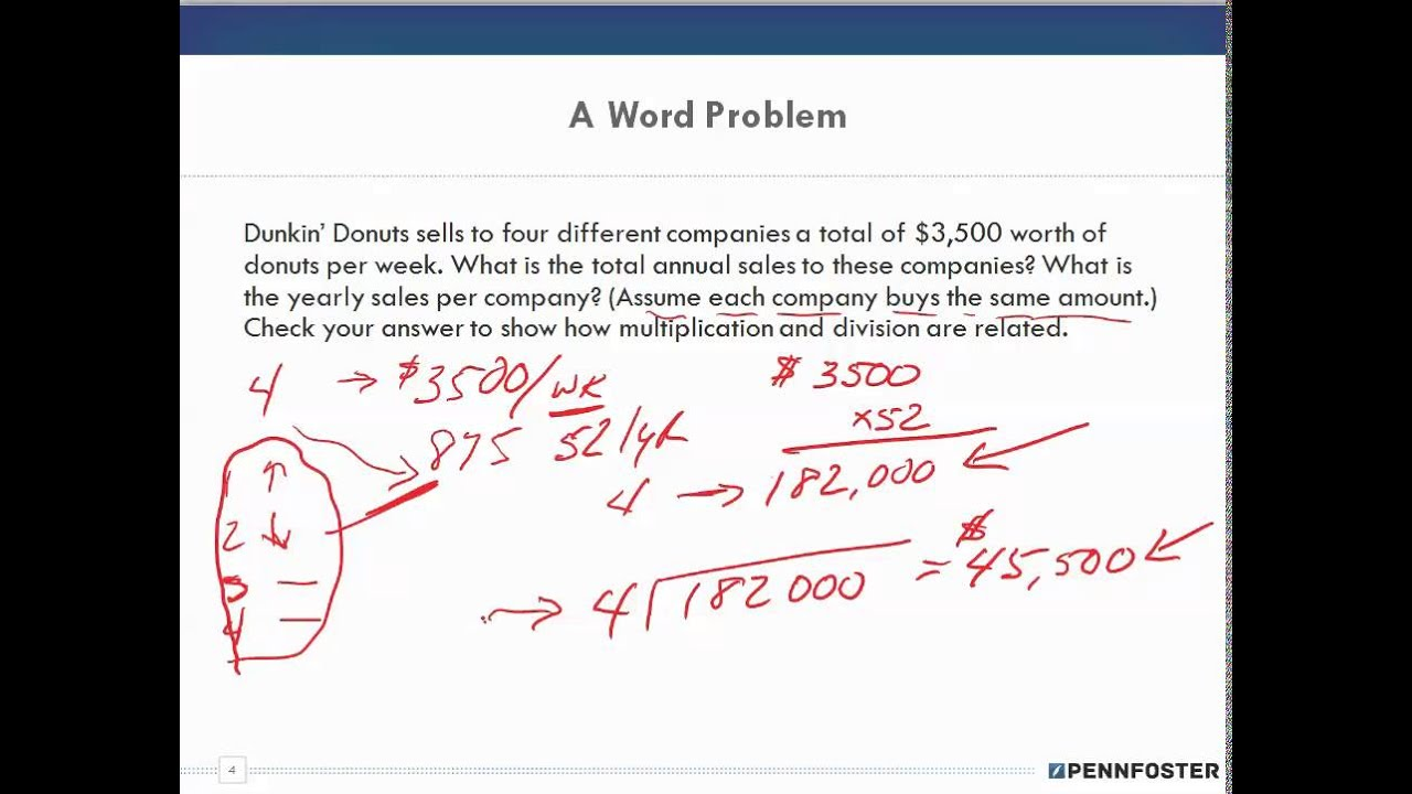 Math for Business and Applications chapter 1 dissect and solve word - business math