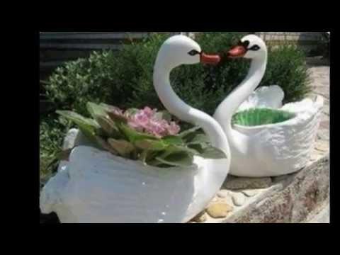 видео: кашпо для цветов своими руками Лебедь