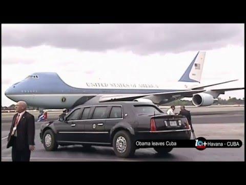 Barack Obama Leaves Cuba - Air Force One take off, Havana, Cuba