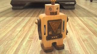 """Beautiful Dreamer"" Wooden Robot Music Box from Wonderful Life"