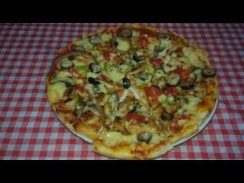 صورة  طريقة عمل البيتزا أحلى بيتزا بالفراخ 👍 طريقة عمل البيتزا بالفراخ من يوتيوب