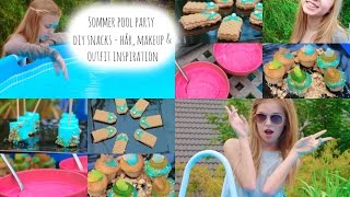 Sommer Pool Party - DIY snacks - Hår, Makeup & Outfit Inspiration Thumbnail
