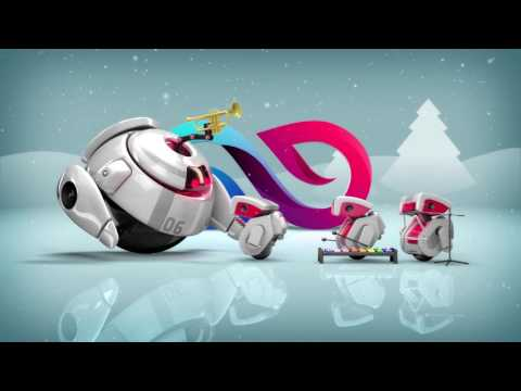 create 3D Robot Christmas Greetings Video in just 6 hours