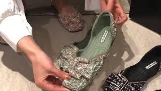 봄여름 신상 진주 큐빅 단화 여성 선녀풍 할머니 신발 …