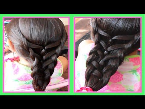 Trenza de sirena con ligas peinado facil para ni a youtube - Trenzas para nina ...