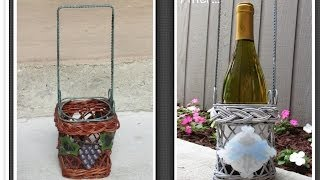 Diy Garbage To Gorgeous Episode #3    Beachy Wine Holder Makeover   Make Something Monday