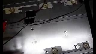 #09 Testando barras de LED tv sem Toshiba modelo Dl3244