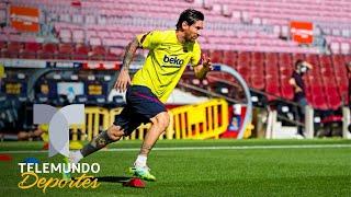 El Barcelona respira: Messi ya entrena y Luis Suárez recibe el alta médica | Telemundo Deportes