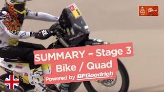Summary - Bike/Quad - Stage 3 (San Juan de Marcona / Arequipa) - Dakar 2019