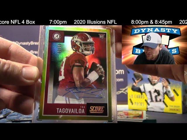 2020 Score Football Card 4 Box Quarter Case Break #13   Sports Cards