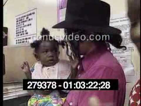Michael Jackson Visits The Watts Health Foundation And Schools In LA