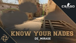 NiP - Know your Nades | Mirage - T Side | A Site