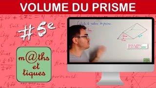 Calculer le volume d'un prisme