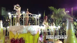 DJGARDO tocando en la ZONA TELESUR 2014 (Carnaval Campeche 2014)