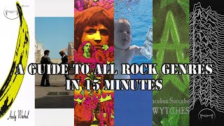 All the Rock Genres explained in 15 minutes | Guide to all the Sub-genres under Rock Music